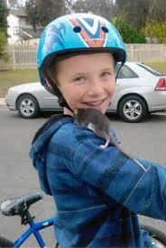 Aidan with Pet Rat