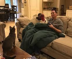 Albert and Brant Watching TV