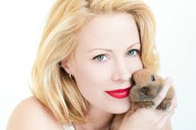 Alison Eastwood with rabbit