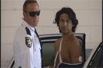 Bryan Zuniga with police after alligator attack