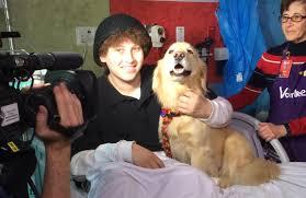 Anthony Lyo ns with dog