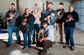 Bachelor Party Guys With Puppies