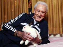 Bob Barker with Rabbit