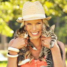 Beth Stern with two kittens