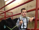 Wyatt Blaylock with steer