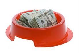 Dog Bowl of Money