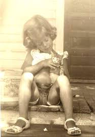 Brent Atwater As A Child with Cat