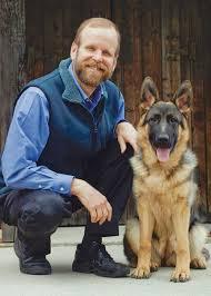 Brother Christopher Savage with Dog