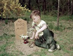 Child at Dog's Grave