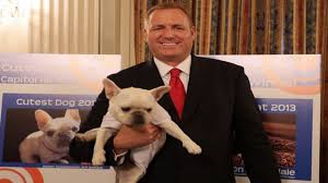 Congressman Jeff Denham with his dog