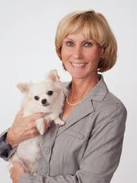 Connie Newcomb with dog