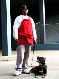 Cornelius Austin with Pit Bull