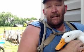 Dan Welker with Duck