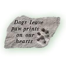 Dog grave marker