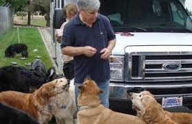 David with dogs at stop