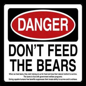 Don tFeed Bears Sign