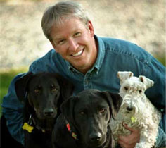 Dr. Becker with dogs