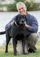Dr. Ron Hines with dog