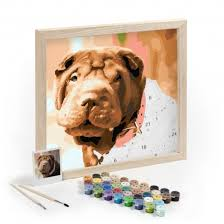 Dog Paint-By-Numbers