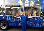 Dr. Halligan With Blue Bus