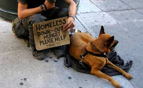 Homeless Person With Pet