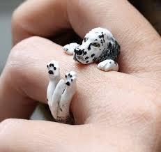 Hug Dog Ring