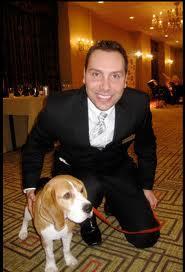 Jerry Grymek with dog