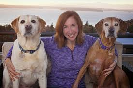 Laura Coffey with Dogs