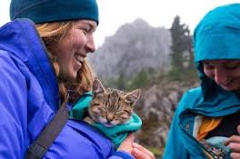 Laura Moss with Cat