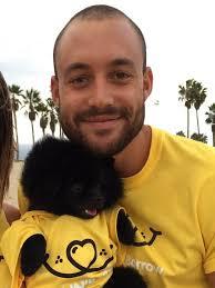 Liam Berkeley with Dog
