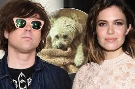 Ryan Adams and Mandy Moore with Dog