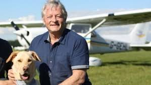Mark Vette and Dog with Plane