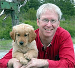 Marty Becker with Puppy