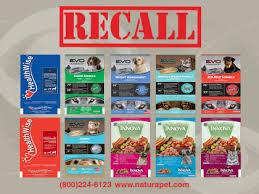 Natura Pet Food recall