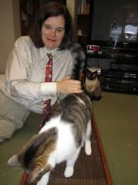 Paula Poundstone with Cat