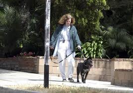 Paula Poundstone Walking her Dog
