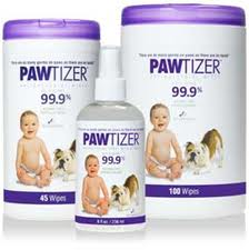 PAWTIZER antibacterial wipes and spray