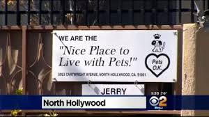 Sign outside Judy Guth's apartments
