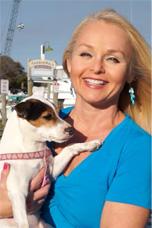 Host Christine van Blokland with Dog