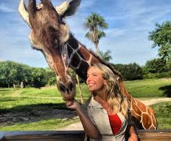 Rachel Reenstra with Giraffe