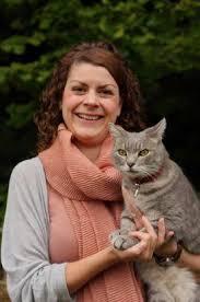 Sarah Ellis with Cat