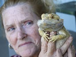 Sherrie Dolezal with Bearded Dragon