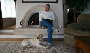 Stan Yocum with dog
