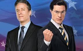 Job Stewart and Steven Colbert