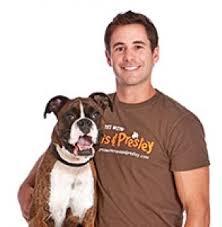 Travis Brorsen with Dog