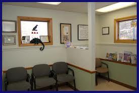 Empty veterinarian waiting room
