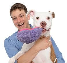Zak George with Dog