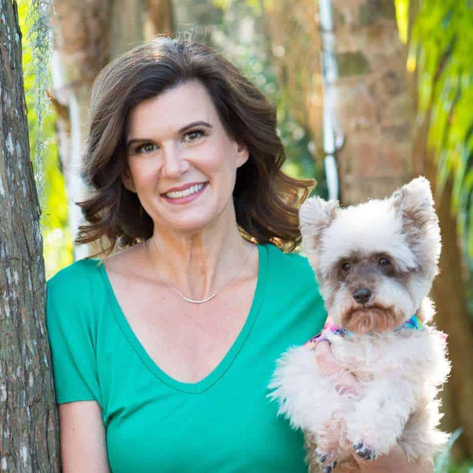 Angela Ardolino with Dog