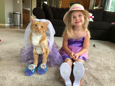 Bailey and Erin's Daughter Both Dressed Like a Princess