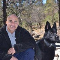 Brad Croft with Dog